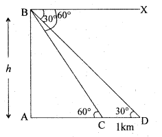 2nd PUC Basic Maths Question Bank Chapter 13 Heights and Distances 25