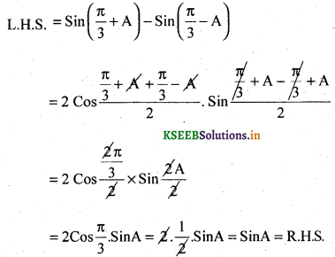 2nd PUC Basic Maths Question Bank Chapter 14 Compound Angles, Multiple Angles, Sub Multiples Angles and Transformation Formulae 25