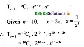 2nd PUC Basic Maths Question Bank Chapter 4 Binomial Theorem 20
