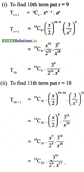 2nd PUC Basic Maths Question Bank Chapter 4 Binomial Theorem 32