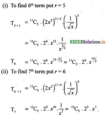 2nd PUC Basic Maths Question Bank Chapter 4 Binomial Theorem 33