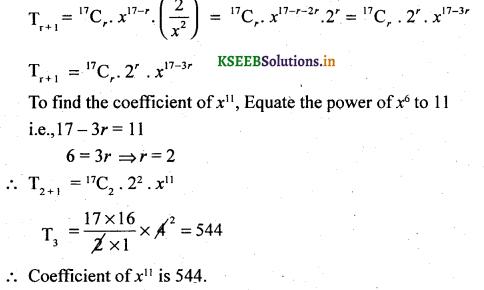 2nd PUC Basic Maths Question Bank Chapter 4 Binomial Theorem 34