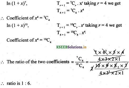 2nd PUC Basic Maths Question Bank Chapter 4 Binomial Theorem 46