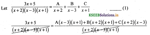 2nd PUC Basic Maths Question Bank Chapter 5 Partial Fractions 1