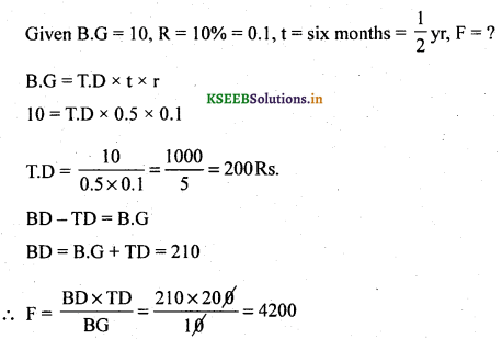 2nd PUC Basic Maths Question Bank Chapter 8 Bill Discounting 10