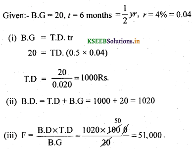 2nd PUC Basic Maths Question Bank Chapter 8 Bill Discounting 12