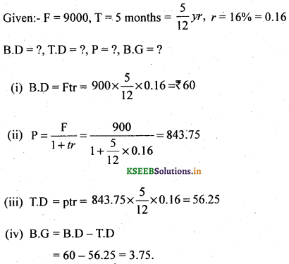 2nd PUC Basic Maths Question Bank Chapter 8 Bill Discounting 13