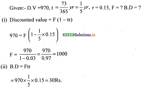 2nd PUC Basic Maths Question Bank Chapter 8 Bill Discounting 14