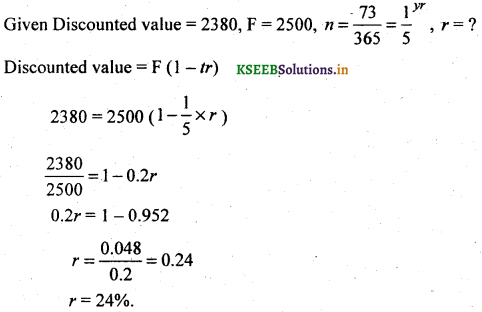2nd PUC Basic Maths Question Bank Chapter 8 Bill Discounting 5