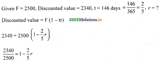 2nd PUC Basic Maths Question Bank Chapter 8 Bill Discounting 8