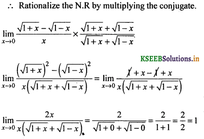 2nd PUC Basic Maths Question Bank Chapter 17 Limit and Continuity of a Function 38