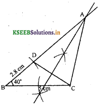 KSEEB Solutions for Class 8 Maths Chapter 12 Construction