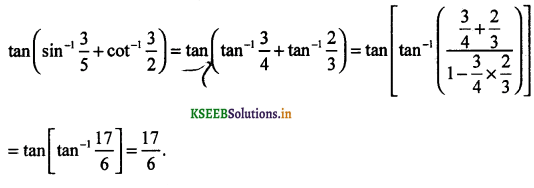 2nd PUC Maths Question Bank Chapter - 2 Inverse Trigonometric Functions - 27