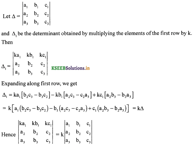 2nd PUC Maths Question Bank Chapter - 4 Determinant - 19