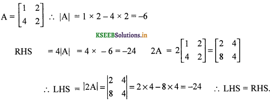 2nd PUC Maths Question Bank Chapter - 4 Determinant - 2