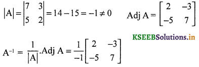 2nd PUC Maths Question Bank Chapter - 4 Determinant - 7