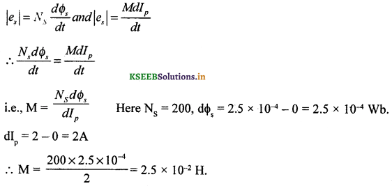 2nd PUC Physics Question Bank Chapter 6 Electro Magnetic Induction 22
