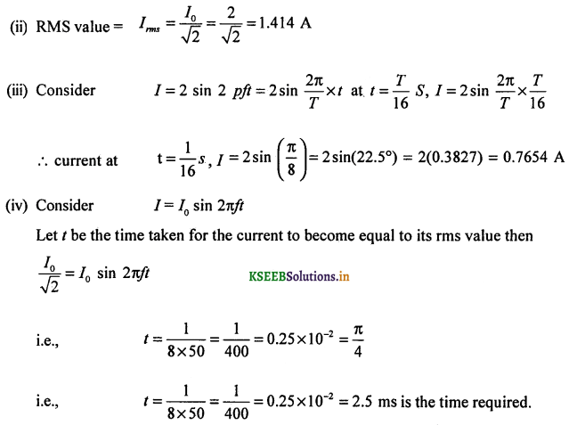 2nd PUC Physics Question Bank Chapter 7 Alternating Current 67