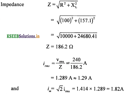 2nd PUC Physics Question Bank Chapter 7 Alternating Current 82