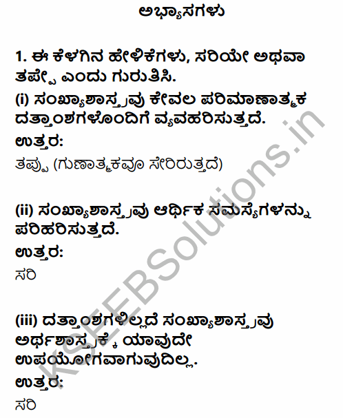 1st PUC Economics Question Bank Chapter 1 Introduction in Kannada 1