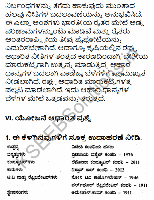 1st PUC Economics Question Bank Chapter 3 Liberalisation, Privatisation and Globalisation – An Appraisal in Kannada 16