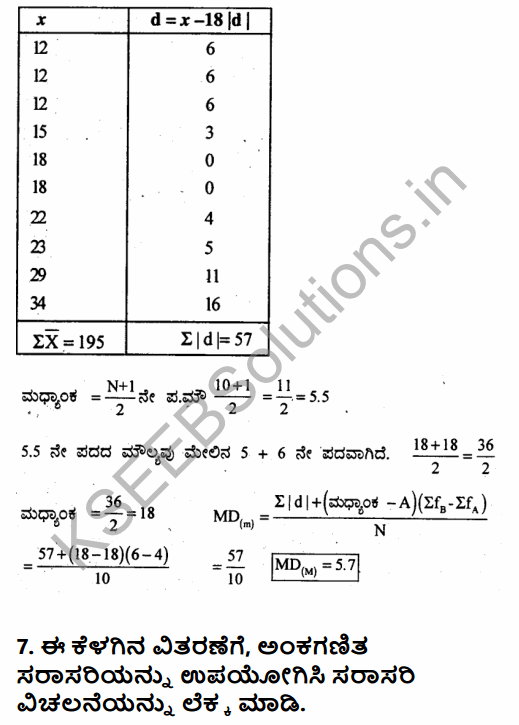 1st PUC Economics Question Bank Chapter 6 Measures of Dispersion in Kannada 34