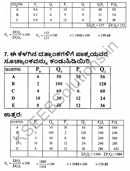 1st PUC Economics Question Bank Chapter 8 Index Numbers in Kannada 36