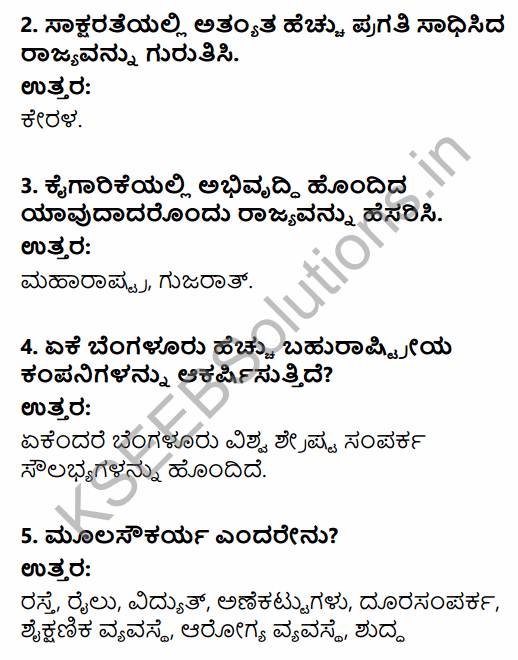 1st PUC Economics Question Bank Chapter 8 Infrastructure in Kannada 3