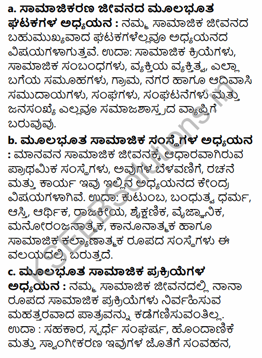 1st PUC Sociology Question Bank Chapter 1 Nature of Sociology in Kannada 62