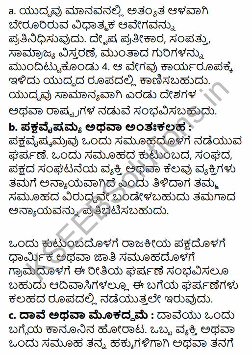 1st PUC Sociology Question Bank Chapter 3 Social Process in Kannada 21
