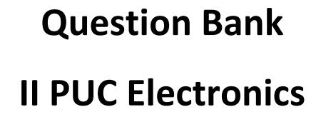 Karnataka 2nd PUC Electronics Question Bank with Answers