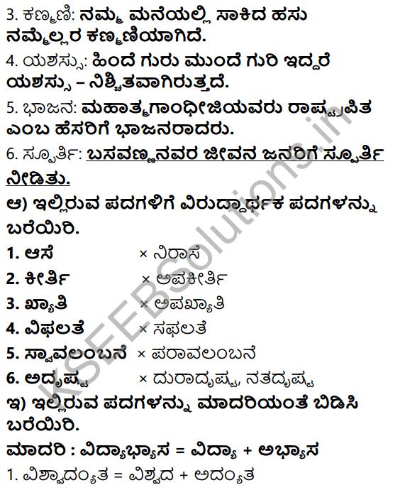 Tili Kannada Text Book Class 6 Solutions Gadya Chapter 4 Edegundada 9