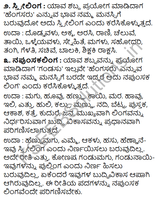 Tili Kannada Text Book Class 8 Vyakarana Lingagalu 2