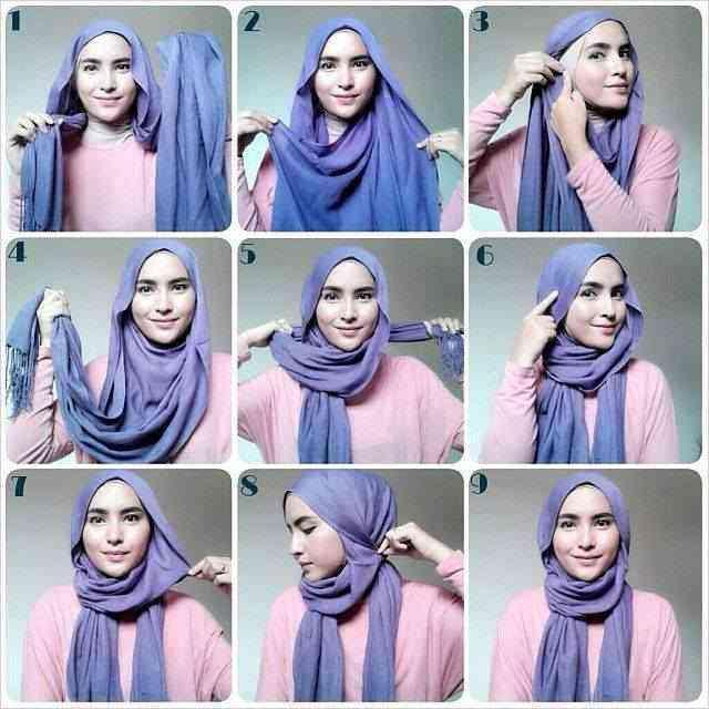 طريقة لف الحجاب بالصور خطوة خطوة يلا جددي شكل حجابك باسهل