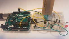 How the Arduino and breadboard connect
