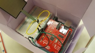 The prototype only fits the Arduino and breadboard