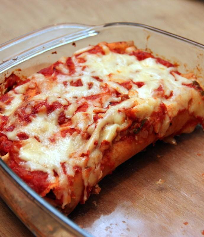 Enchiladas – Zapieczone tortille nadziewane wołowiną