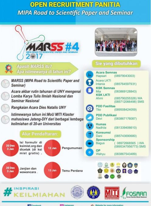Open Recruitment Panitia MARSS #4