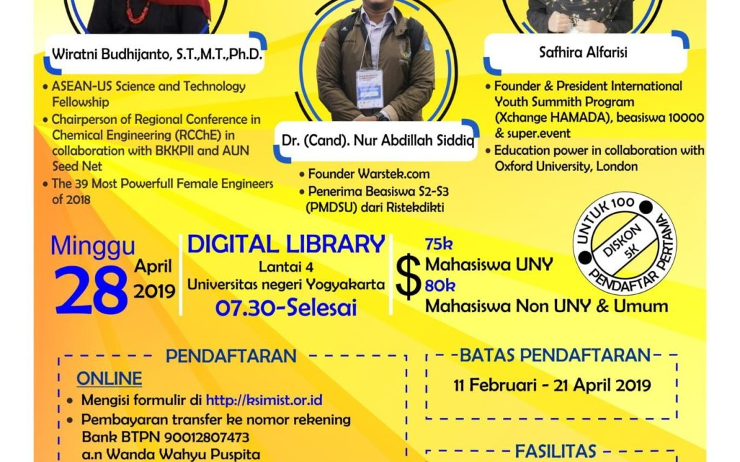 Pendaftaran Seminar Nasional MIPA Road to Scientific Paper and Seminar #6