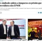 Los líderes sindicalistas suplican a Junqueras que permita a Pedro Sánchez ser presidente del gobierno