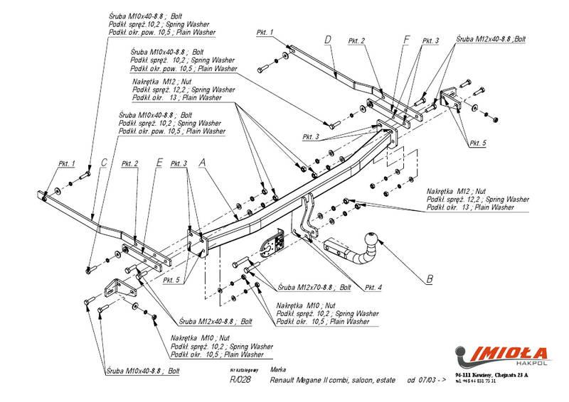 Фаркопы для Renault Megane II седан 2002-2008: купить в