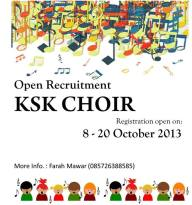 Open Recruitment KSK Choir
