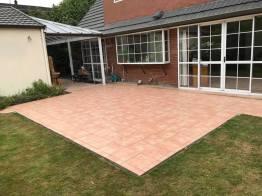 Tiling patio