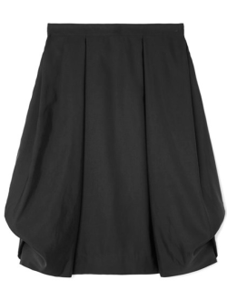Short black skirt with bubble hem