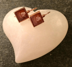 cupid cameo earrings