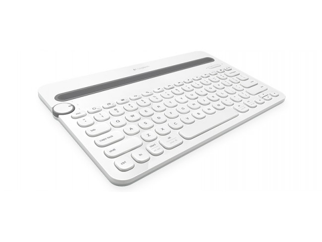 Logitech K480 White MULTI-DEVICE KEYBOARD English Hebrew