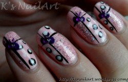 Glitter and Bows with Pink