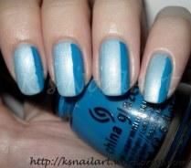 Aqua (blue side French manicure)