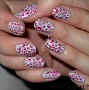 Floral Newspaper Print Nails