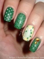 Green Floral Skittlette